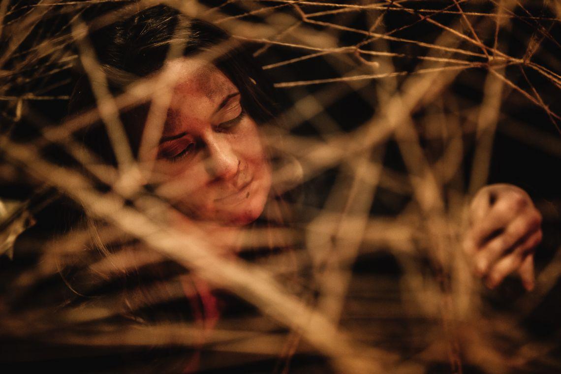 "Marisa Garreffa, ""Anam Cara – Dwelling Body"", Venice International Performance Art Week, Palazzo Mora, Venice, 2018 © Guido Mencari"