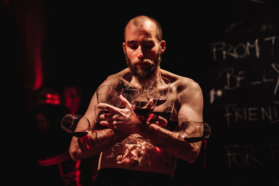 "Marcel Sparmann, ""Anam Cara – Dwelling Body"", Venice International Performance Art Week, Palazzo Mora, Venice, 2018 © Guido Mencari"