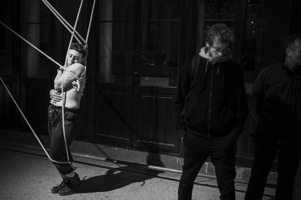 Giorgia de Santi, Anam Cara – Dwelling Body, Venice International Performance Art Week, Palazzo Mora, Venice, 2018© Alexander Harbaugh