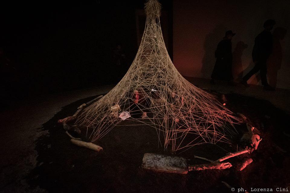 Marisa Garreffa,Anam Cara – Dwelling Body, Venice International Performance Art Week, Palazzo Mora, Venice, 2018© Lorenza Cini