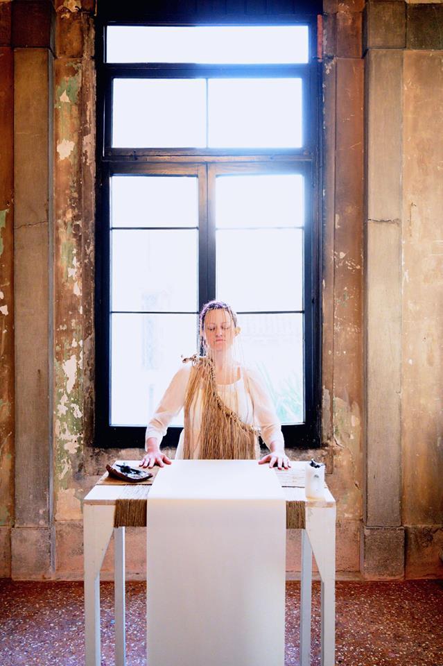 Sabrina Bellenzier, Anam Cara – Dwelling Body, Venice International Performance Art Week, Palazzo Mora, Venice, 2018 © Alexander Harbaugh