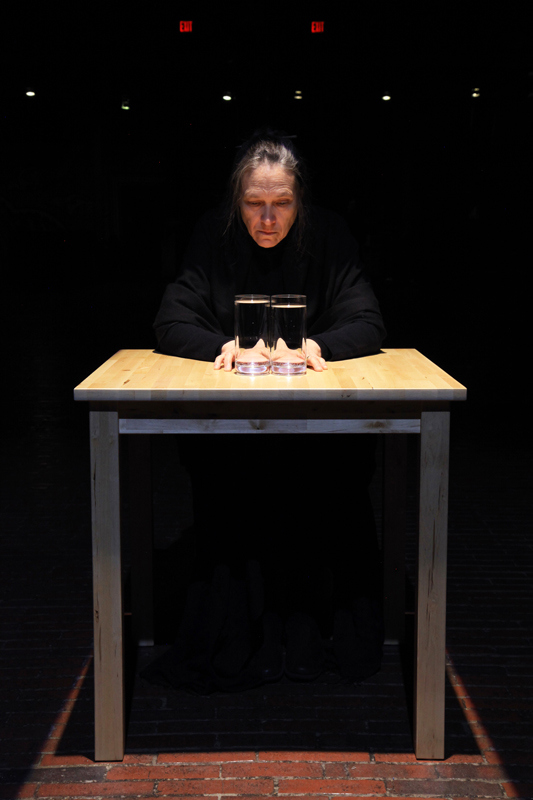 Marilyn Arsem,Edge.Near Death Performance Art Experience, Boston, US (2013)