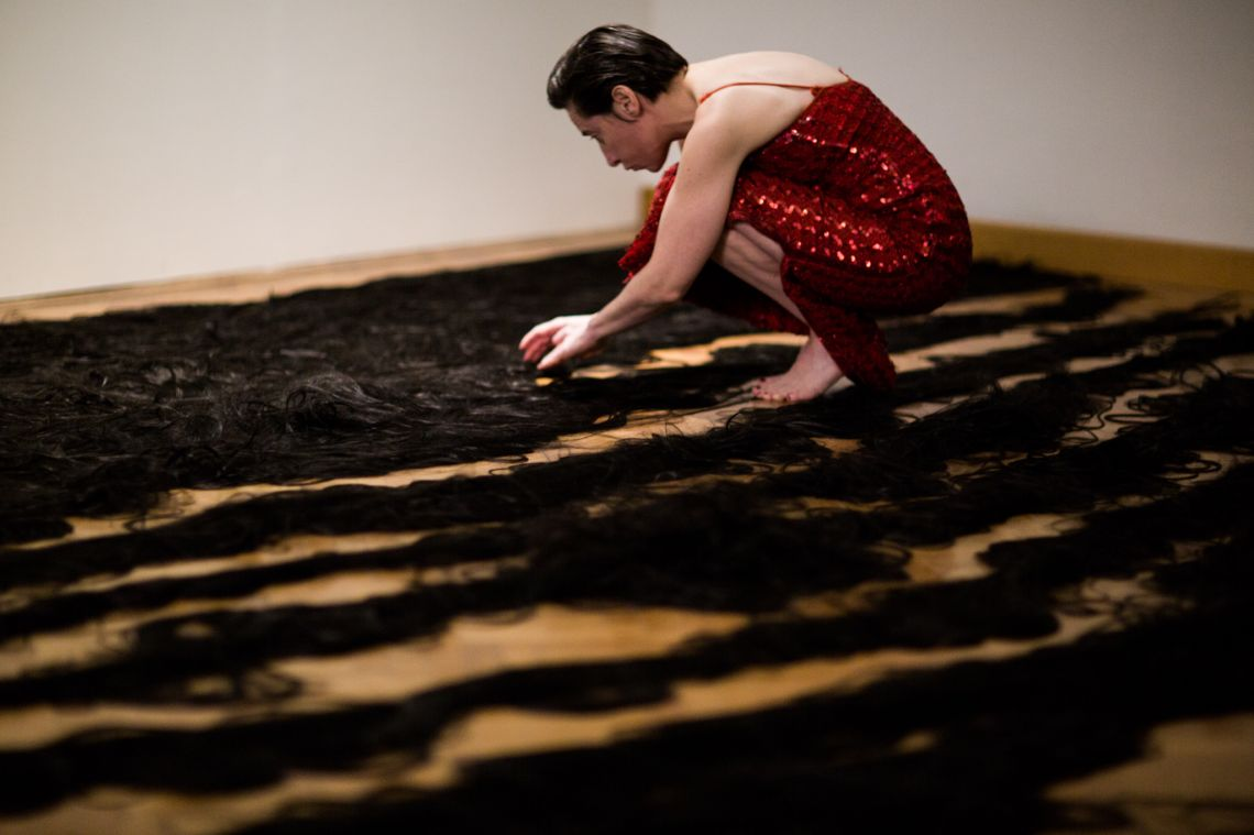 Helena Goldwater, Once In A While, Venice International Performance Art Week 2012 © Monika Sobczak