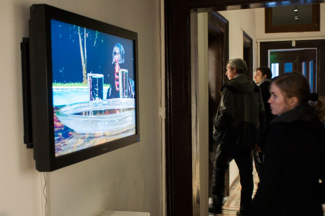 Shima, Exhibition view at the I VENICE INTERNATIONAL PERFORMANCE ART WEEK 2012 of Testimonies, Photography and videos.