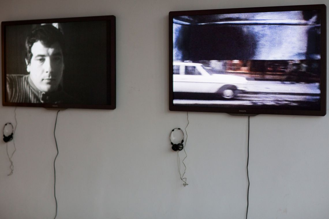 VALIE EXPORT, Exhibition view at the I VENICE INTERNATIONAL PERFORMANCE ART WEEK 2012 of videos from Metanoia (2012).