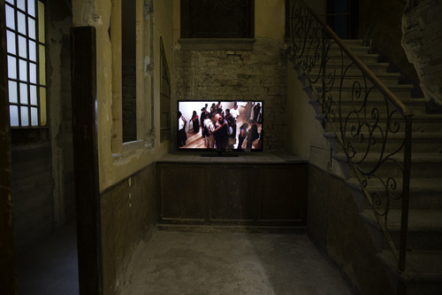 Regina José Galindo, Selected Videos. Exhibition view. Venice International Performance Art Week (2014). Photograph by Samanta Cinquini.