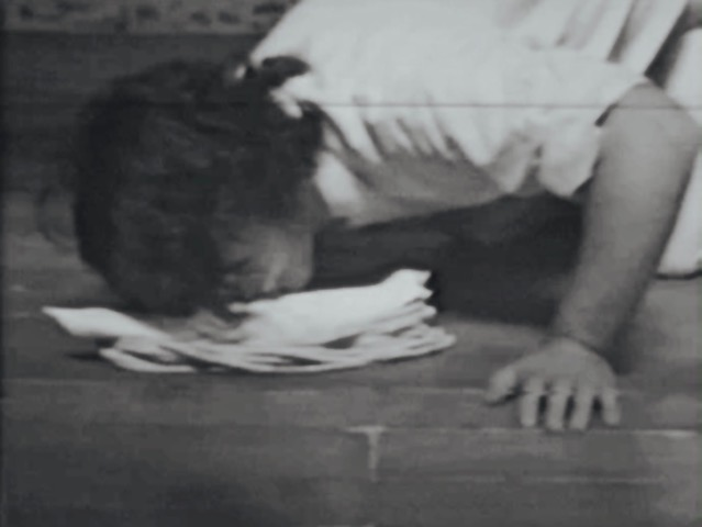 Terry Fox, Turgescent Sex (1974), Video still. Courtesy of La Biennale di Venezia - ASAC.