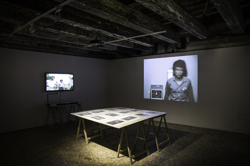 Tehching Hsieh, One Year Performance 1980 -1981. Exhibition view. Venice International Performance Art Week 2014. Photograph by Samanta Cinquini.