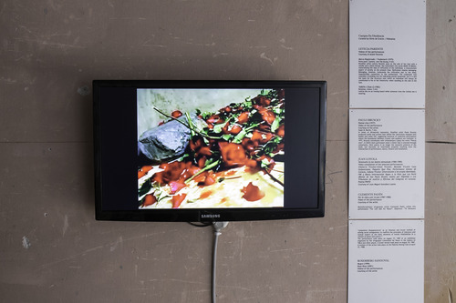 Videoplay - Selected videos. Exhibition view - Detail. Venice International Performance Art Week 2014. Photograph by Samanta Cinquini.
