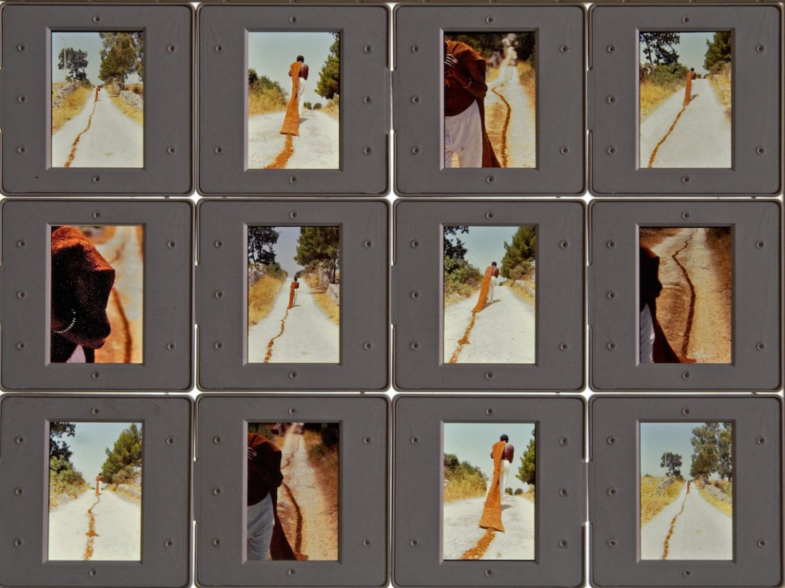 Andrea Morucchio, Red Track (2003). Scan of the diapositive slides. Courtesy the artist.