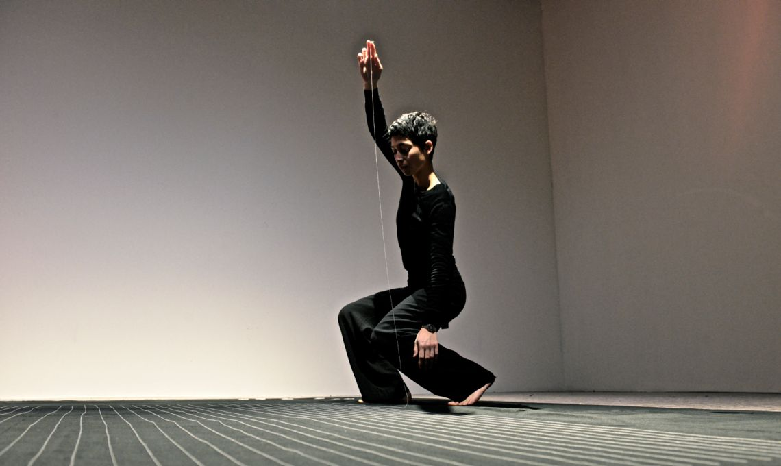 Jasmin Schaitl. Durational performance at the ART WEEK | FRINGE of the III Venice International Performance Art Week 2016. Image © Edward Smith.