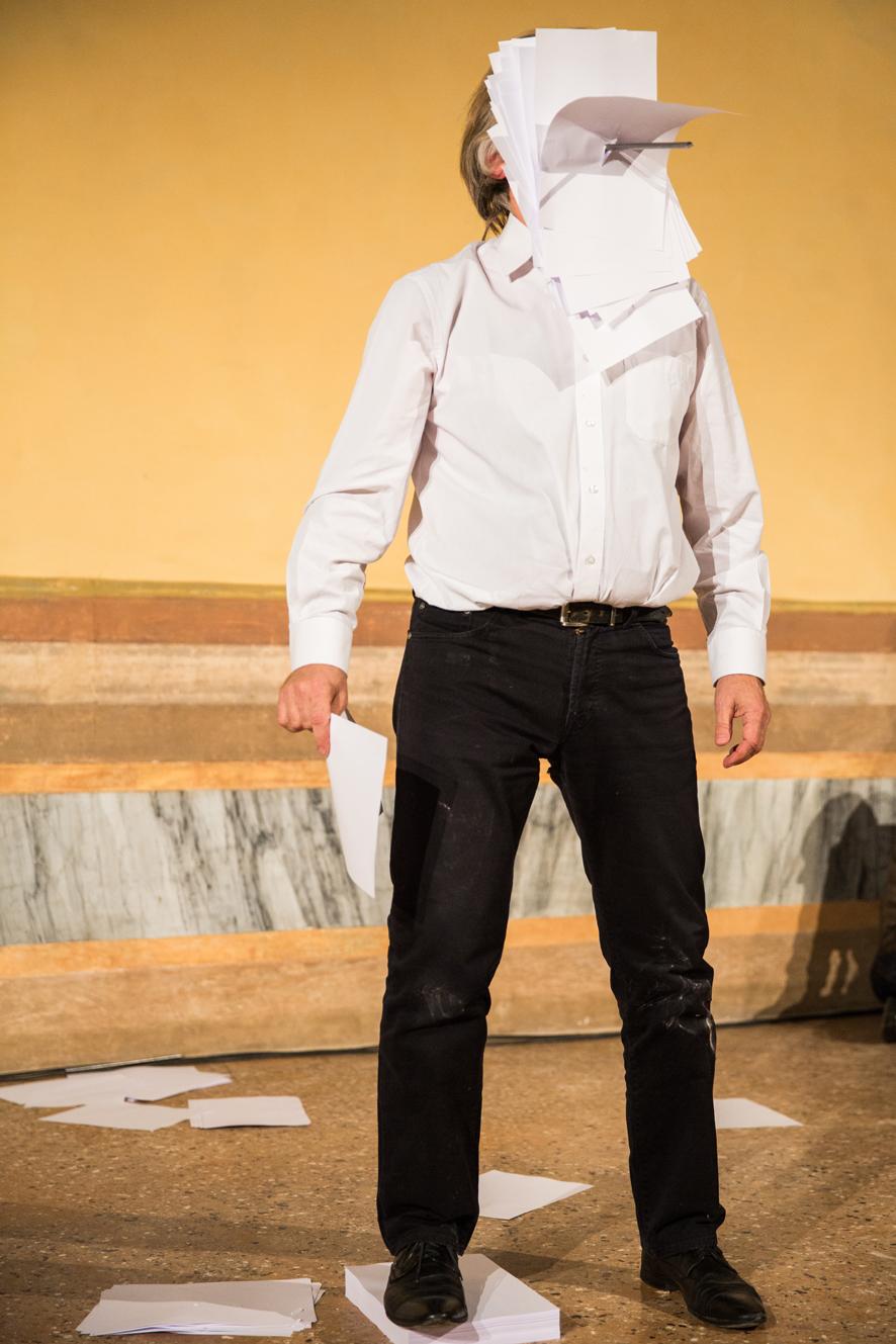 Janusz Baldyga,March Performance. Performance at the III Venice International Performance Art Week 2016. Image © Monika Sobczak