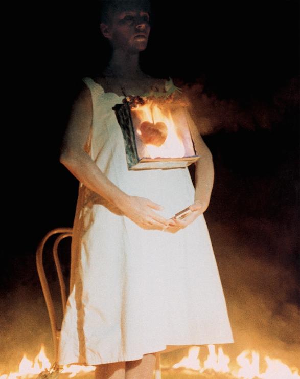 Leda Papaconstantinou,Burning(1985). Courtesy the artist.