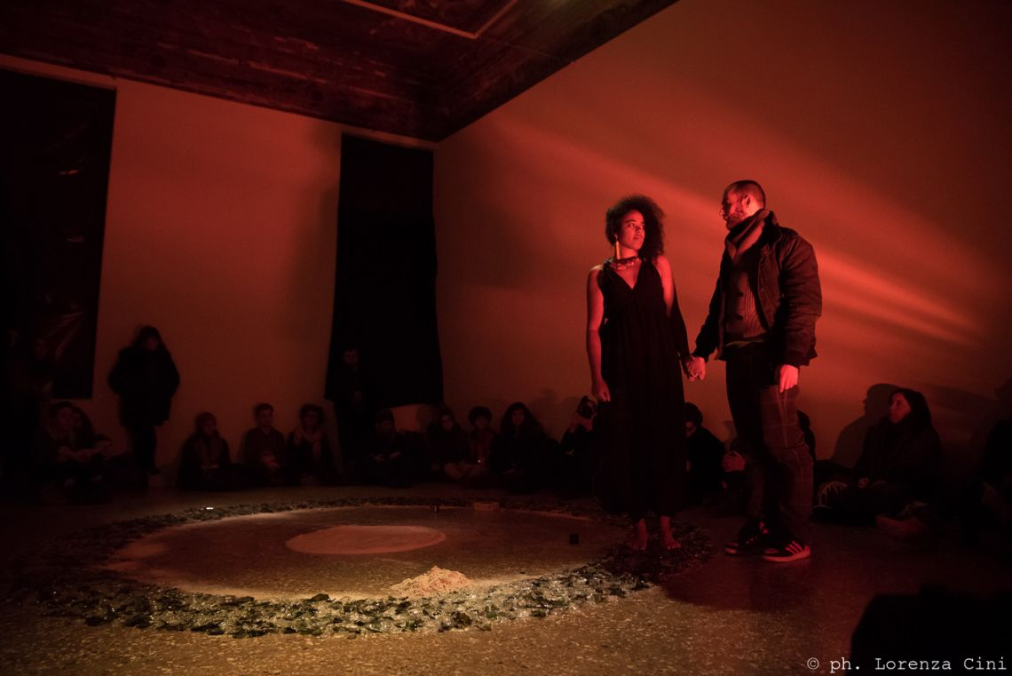 Nathalie Anguezomo Mba Bikoro, Last Sundance. Durational performance at the III Venice International Performance Art Week 2016. Image © Lorenza Cini