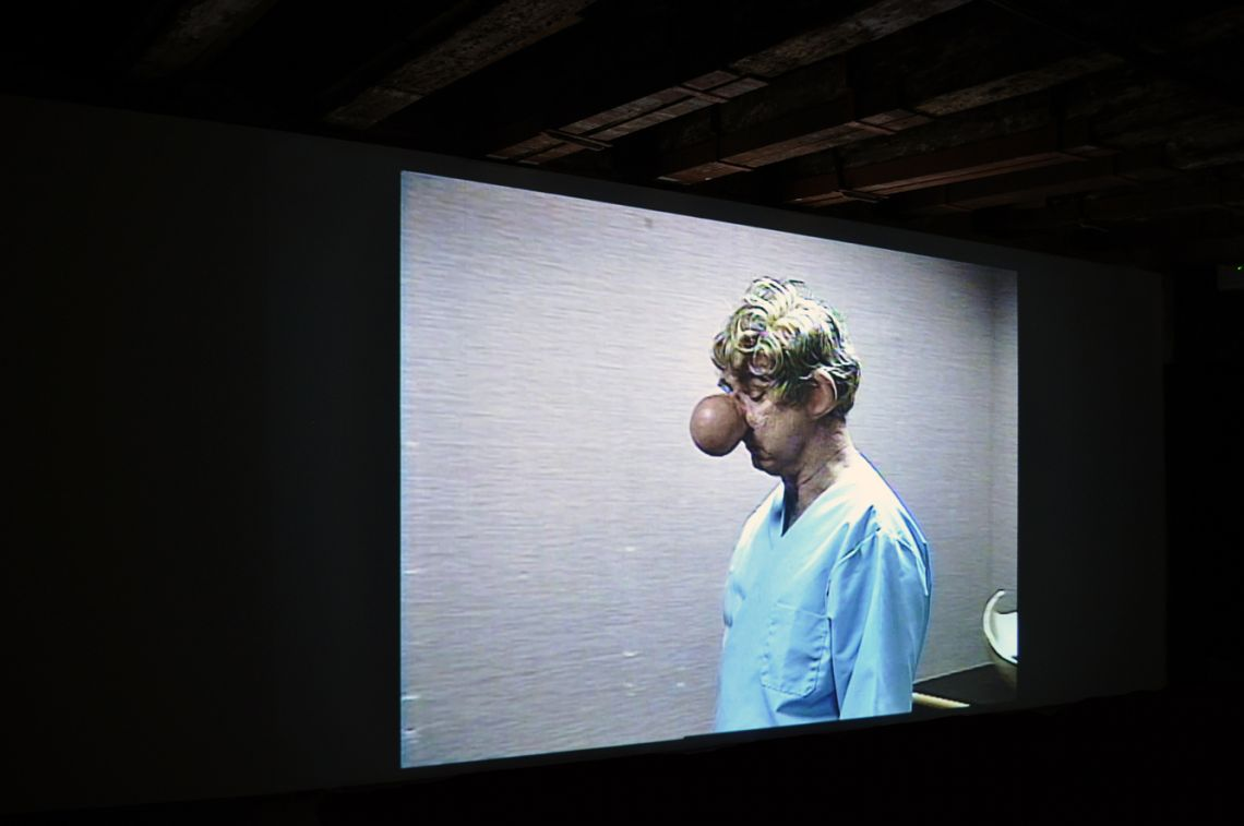 Paul McCarthy. Exhibition view of the video Painter (1995) at the III Venice International Performance Art Week 2016. Photograph by We Exhibit.