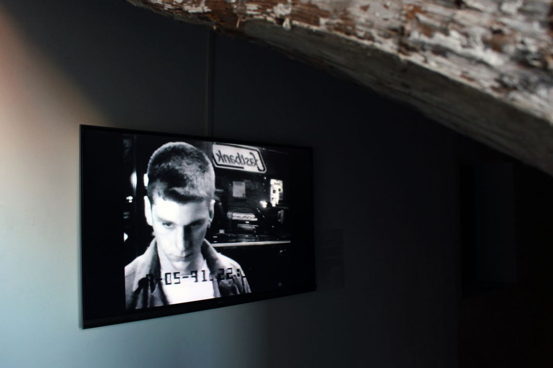 Sophie Calle. Exhibition view of the video Unfinished (2005) at the III Venice International Performance Art Week 2016. Image © VestAndPage
